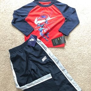 2t Nike long sleeve with track pants NWT